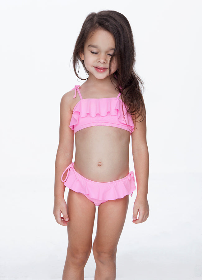 PINK RUFFLE TWO PIECE