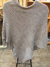 Beige Chenille poncho
