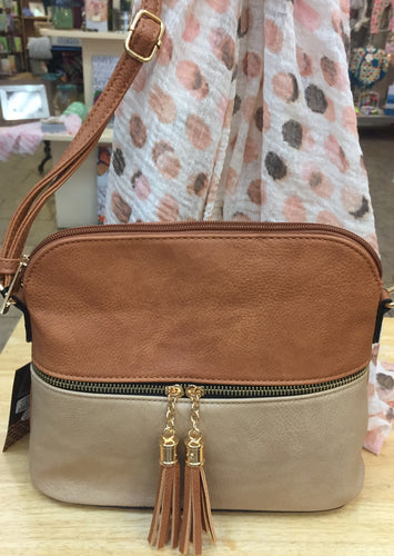 Two tone shoulder bag