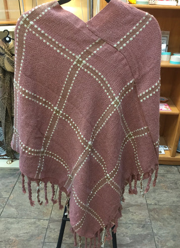 Pink lattice poncho
