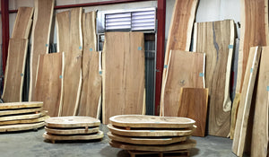 Sustainably Harvested Natural Edge Wood Slabs