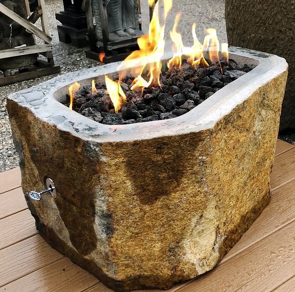 Natural Stone Gas Fire Pits by Impact Imports