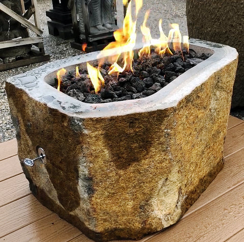 Natural Stone Gas Fire Pits Arriving Spring 2019