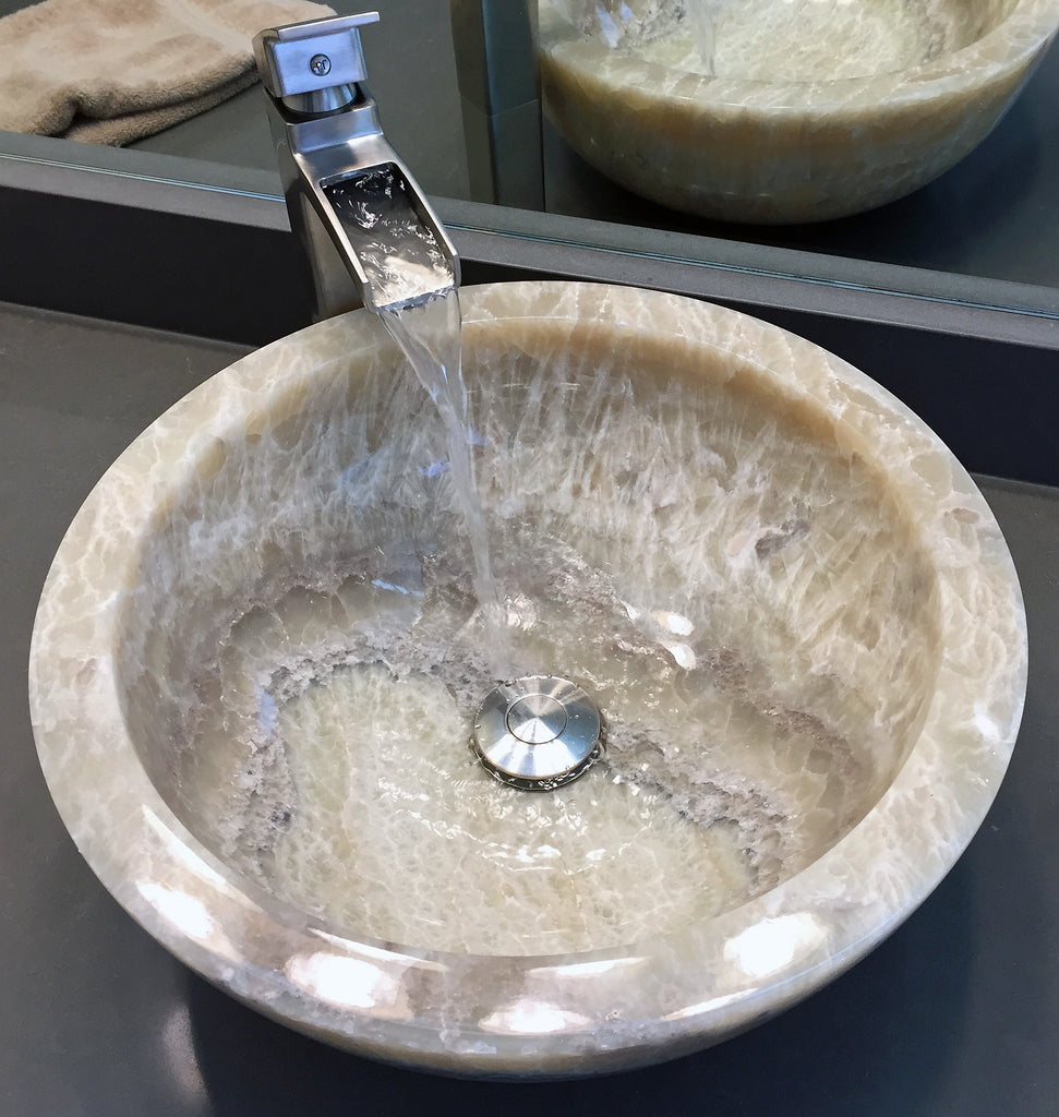 Natural Stone Vessel Sinks As A Focal Point