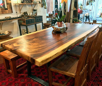 Natural Live Edge Wood Slab Dining Tables Impact Imports