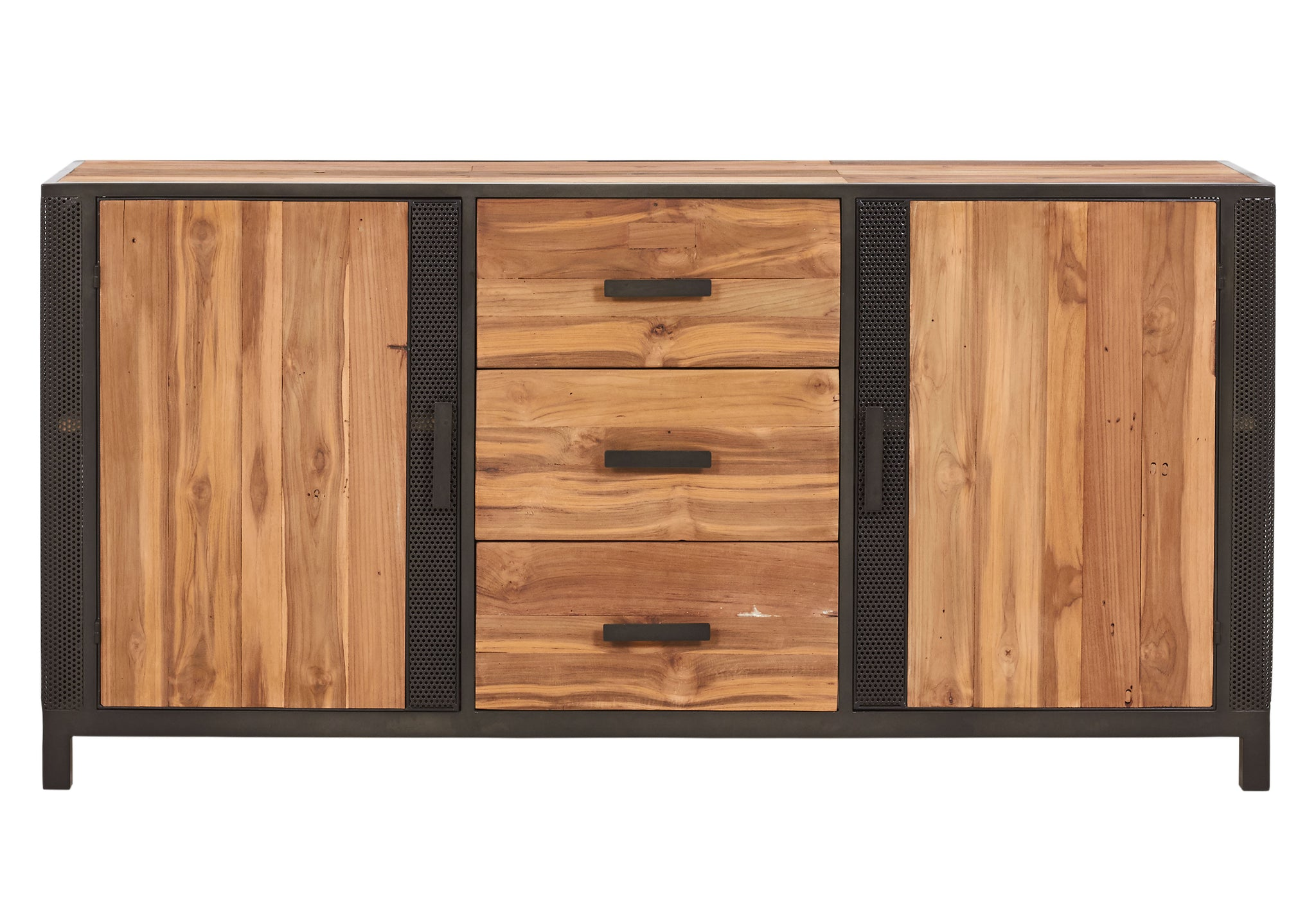 Modern Reclaimed Boat Wood Buffet, 3 Drawers, 4 Doors - CHIC Collection - Impact Imports