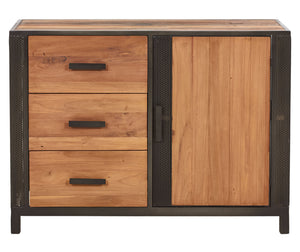 Modern Reclaimed Boat Wood Buffet, 3 Drawers, 1 Door - CHIC Collection - Impact Imports