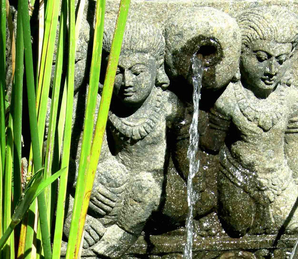 Balinese Princess Water Wall Feature, Hand Carved - Impact Imports