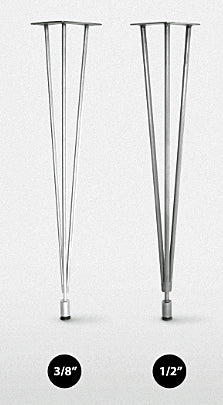"Steel HAIRPIN Table Legs, 1/2"" Diameter Rod - Impact Imports"