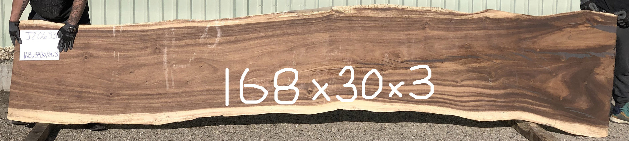 Sustainably Harvested Kiln Dried Natural live edge monkeypod or parota large wood slab Dining or conference table top from Impact Imports in Boise Idaho.