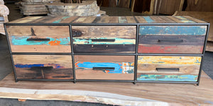 Modern Salvaged Wood Dresser / TV Console - KLEO Collection - Impact Imports