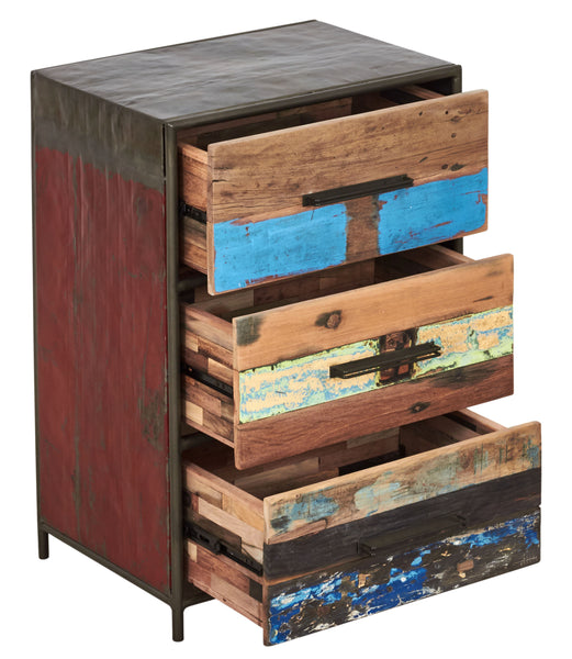 Modern Rustic Salvaged Wood Furniture Chest or Dresser, 3 Drawers - KLEO Collection - Impact Imports