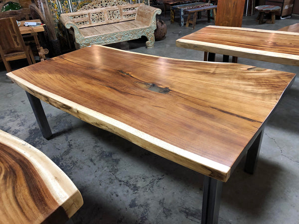 Natural Live Edge Wood Slab Table Top - J90118A - Impact Imports