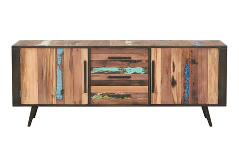 Modern Rustic Reclaimed Wood Buffet Cabinet, 2 Doors, 3 Drawers - NORDIC Collection - Impact Imports