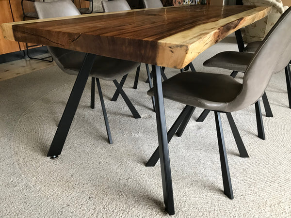 Steel Table Legs, Mid Century Modern Style, Tapered - Impact Imports