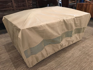 Optional breathable polyester cover for your rectangular or square outdoor gas burning IMPACT fire table.