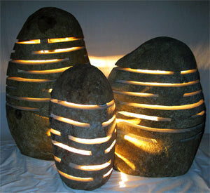 River Rock Garden Lights - Impact Imports