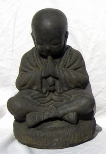 Small seated shaolin monk Buddha Statue with great detail for the perfect zen gift for a friend.