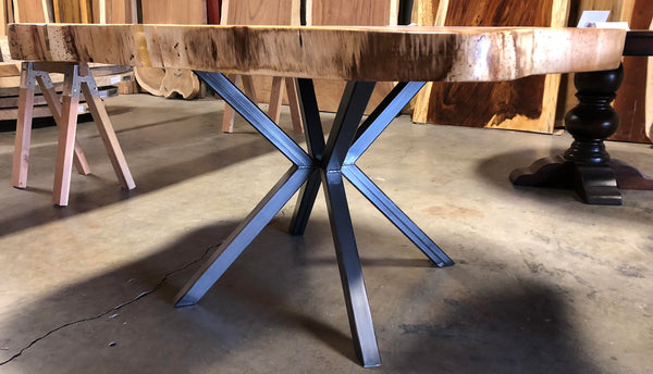 Steel Table Legs, STAR PEDESTAL Style - Impact Imports