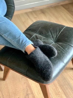 Warm wool slippers for men and women