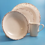 Crusader Melamine 16 Piece Tableware Set Old English Cream W482/C