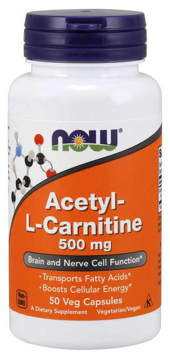 Now Acetyl L-Carnitine 500mg
