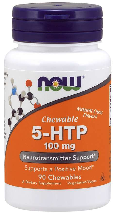 Now 5 HTP 100mg Chewable Lozenges