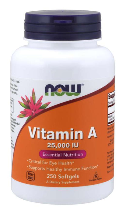 Now Vitamin A 25000 IU
