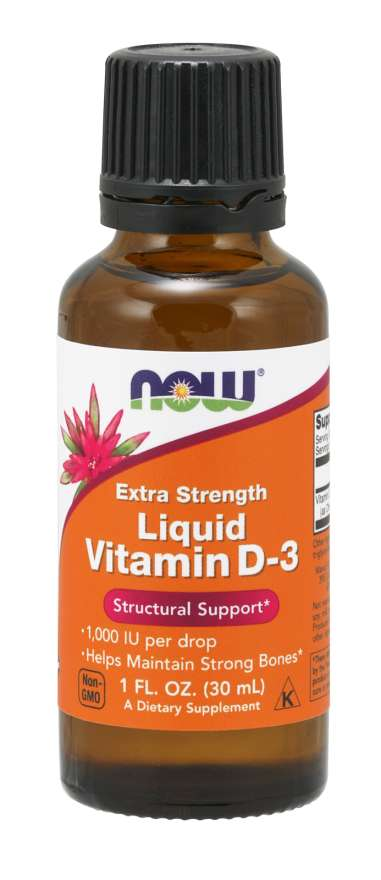 Now Liquid Vit D-3 1000 Iu/Drop Extra Strength