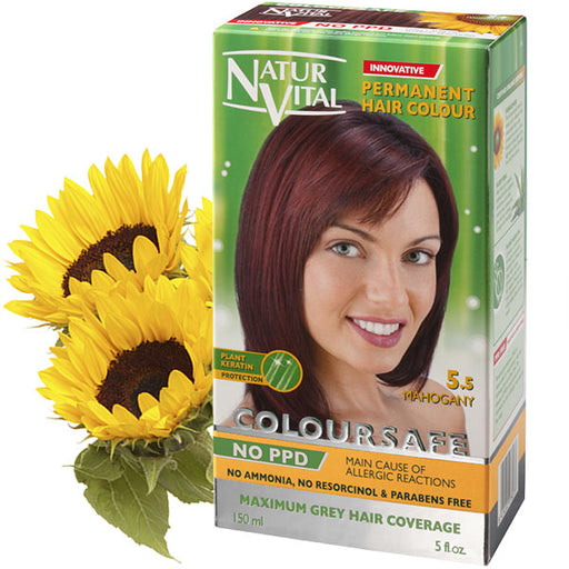 Naturvital-Ppd Free Coloursafe Mahogany No. 5.5 Hair Dye
