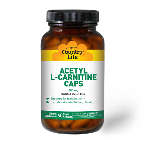 Country Life Acetyl L Carnitine 500mg