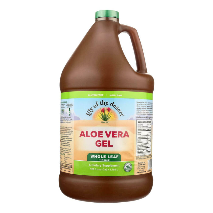 Lily Of The Desert Aloe Vera Gel Whole Leaf NON GMO 1 Gallon