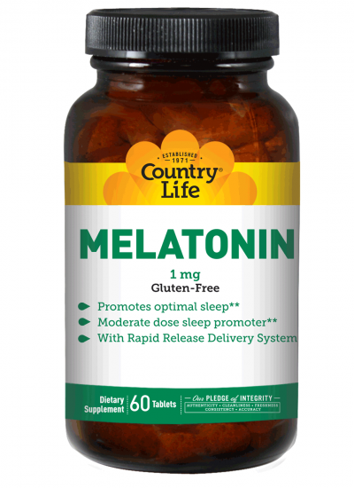 Country Life Melatonin 1mg Rapid Release 60 Tablets