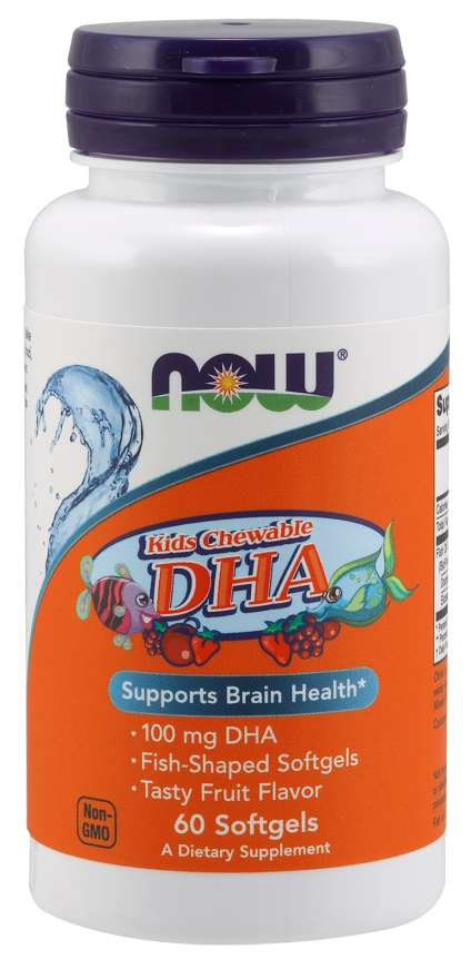Now Dha 100mg Chewable Sgels