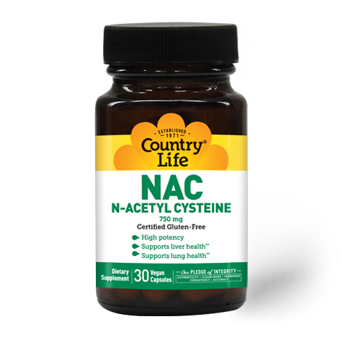 Country Life NAC 750 mg N-Acetyl Cysteine