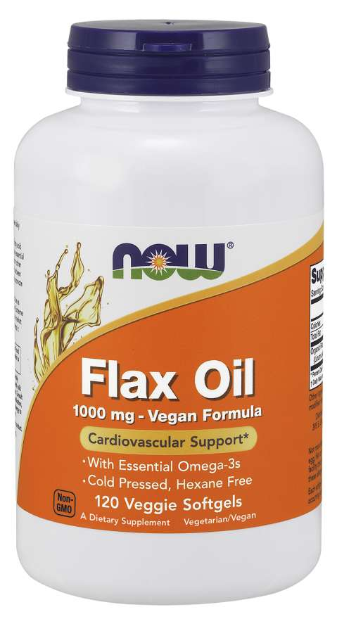 Now Flax Oil Org 1000mg
