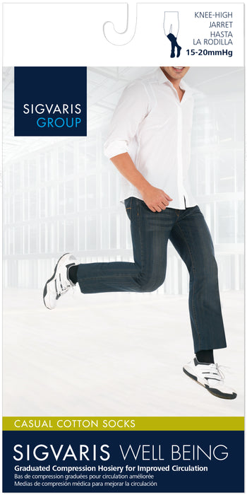Sigvaris Men's Casual Cotton Calf