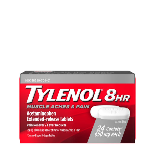 TYLENOL 8 Hour Muscle Aches & Pain Caplets 650 mg 24 ea