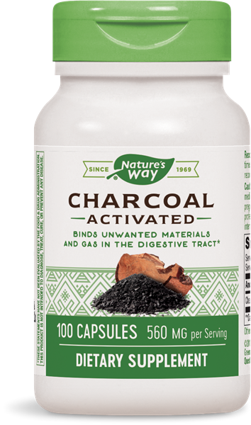 Nature's Way Charcoal Activated / 100 Caps