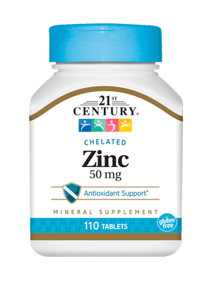 21St Century Chelated Zinc 50mg