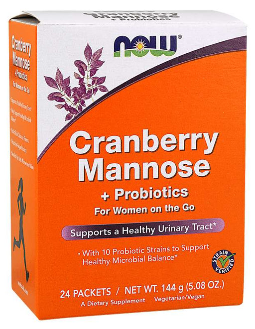 Now Cran & Mannose With Probiotics Sticks 24/Pk