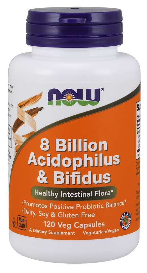 Now 8 Billion Acidophilus/Bifidus