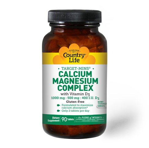 Country Life Calcium Magnesium Complex with Vitamin D3