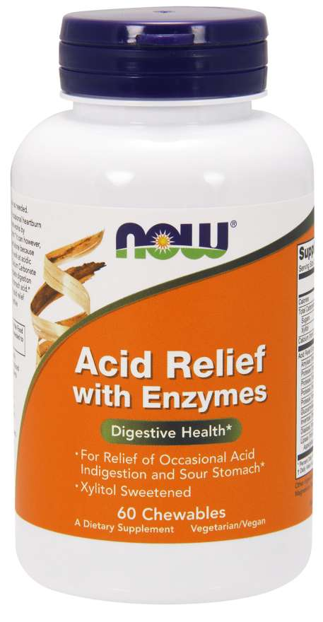 Now Acid Relief Chewable Enzymes