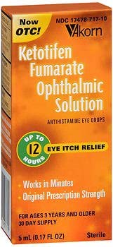 Akorn Ketotifen Fumarate Ophthalmic Solution 5ml