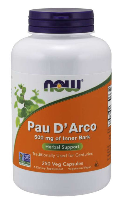 Now Pau D'Arco 500 mg Vegetable Capsules