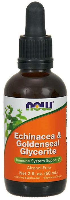 Now Echinacea Goldenseal Glycerite Alcohol Free