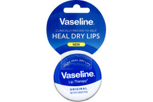 Vaseline Therapy Lip Balm Tin, Original, 0.6 OZ