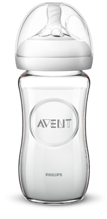 Philips Avent Natural Glass Baby Bottle, 8oz, 1pk
