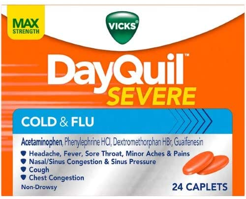 Vicks Dayquil Severe Cold & Flu 24 caps